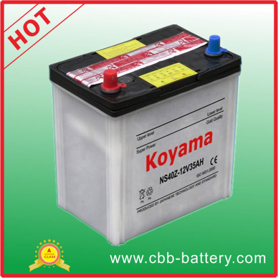 Small Size Dry Charged Auto Battery Ns40z-35ah 12V pictures & photos