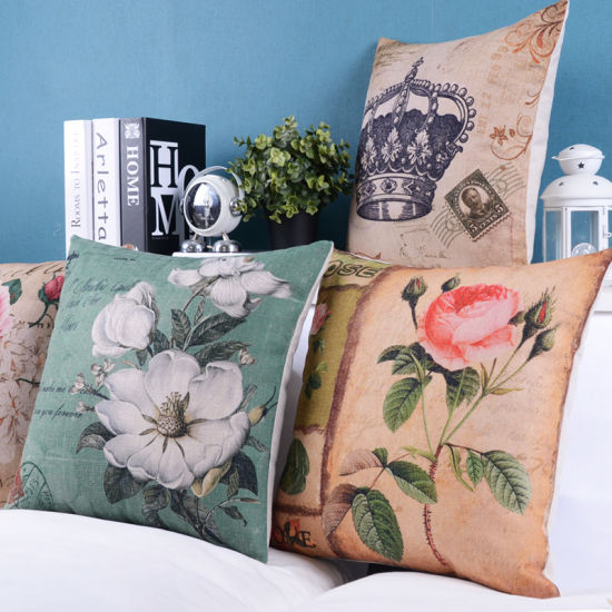 Cotton Linen Print Cushions for Living Room pictures & photos