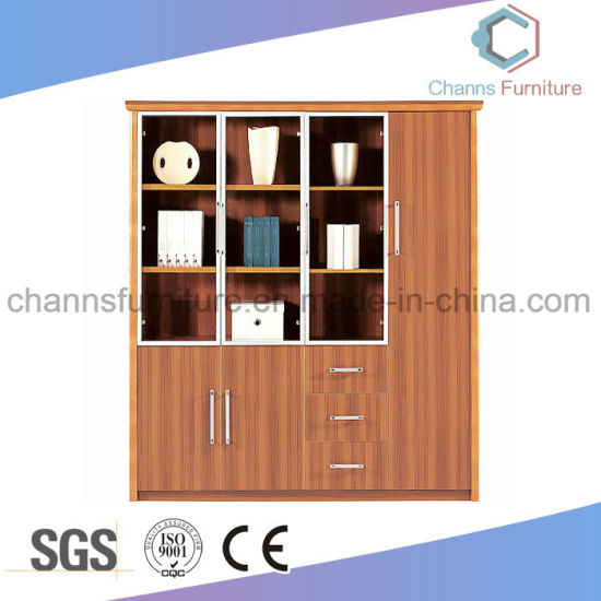 China Glass Door Design Furniture Office File Cabinet China Wooden