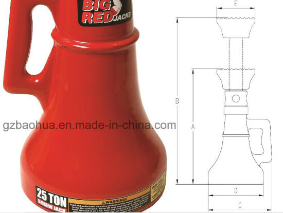 25t Professional Support Jack/Mechanical Screw Jack/Car Jack pictures & photos