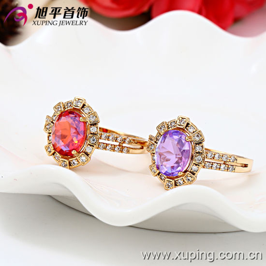 13127 Fashion Latest Gold Engag Ring Designs with Zircon pictures & photos