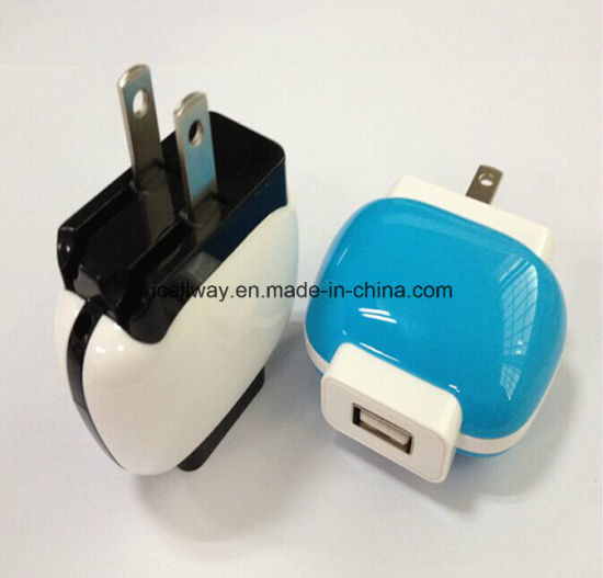 5V/1A USB Charger with Travel Charger for Plug in Us EU Standard