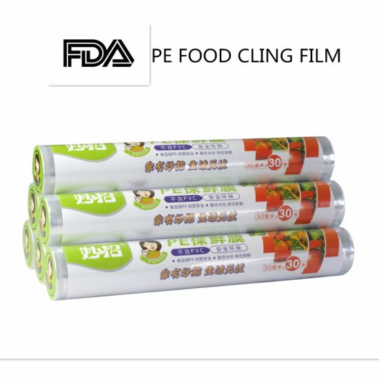 Eco-Friendly PE Plastic Stretch Cling Food Wrap Film Roll pictures & photos
