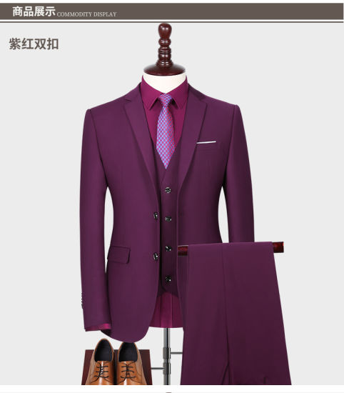 High Quality Men's Fit Classic Front-Button Business and Wedding Suits
