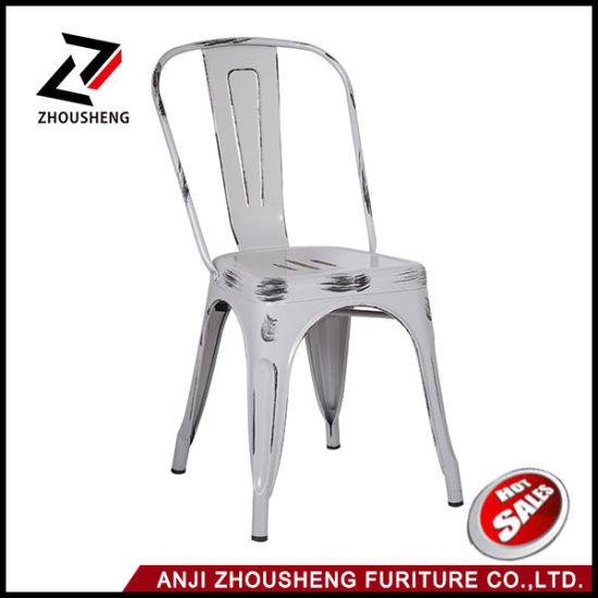 Wholesale Anti-Rust Antique Vintage Metal Chair Outdoor Furniture Antique Restaurant Chairs