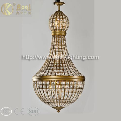 Modern Design Bronze Crystal Pendant Light