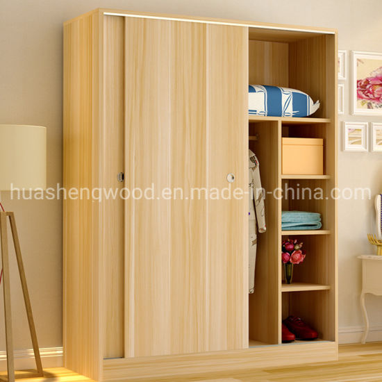 Customized MDF Modern Wooden Unique Bedroom Wardrobe Clothes Cabinet