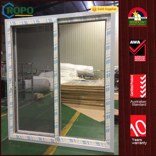 China Pvc Vinyl Double Glazing Soundproof Exterior Glass Sliding
