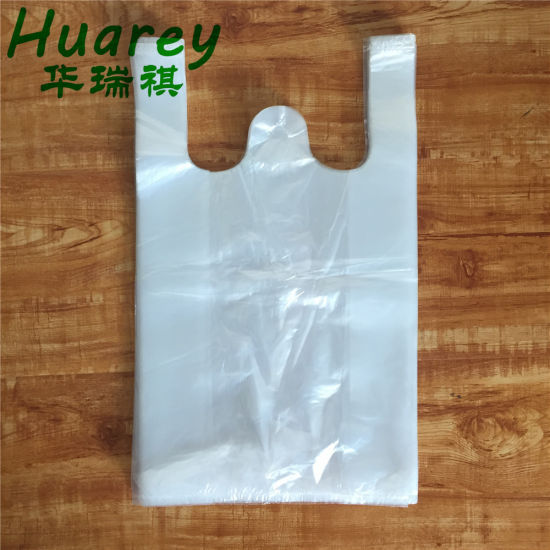 Wholesale Custom Plastic Shopping HDPE/LDPE T-Shirt Bag