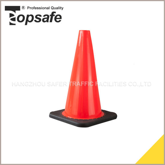 18inch Black Base PVC Cone pictures & photos