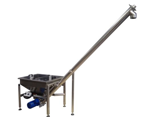 Reliable Rectangle Hopper Inclined Screw Conveyor