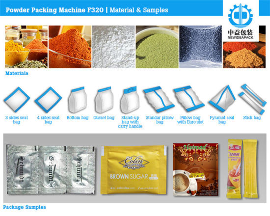 F320 3/4 Sides and Back Sealing Instant Soup Powder Pouch Packing Machine pictures & photos