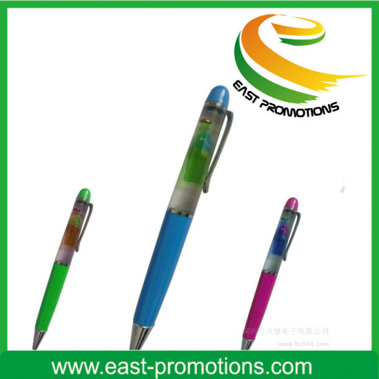 OEM 3D Floater PVC Logo Promotional Liquid Floating Pen pictures & photos