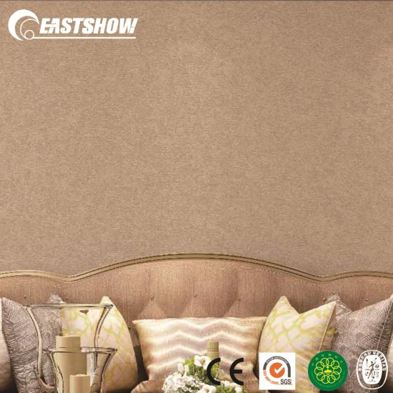 China Hot Sale Plain Color Pvc Wallpaper Designs For Home China Wallpaper Wallcovering