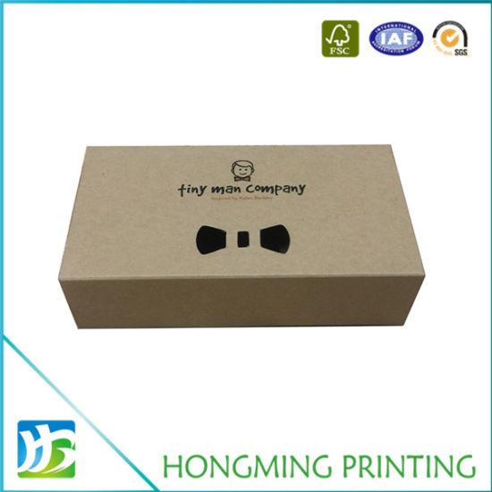 d2452cd8a253 China Logo Print Kraft Paper Custom Bow Tie Box - China Custom Bow ...