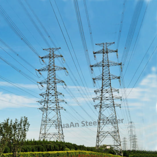 110kv Power Transmission Metallic Angle Steel Lattice Tower pictures & photos
