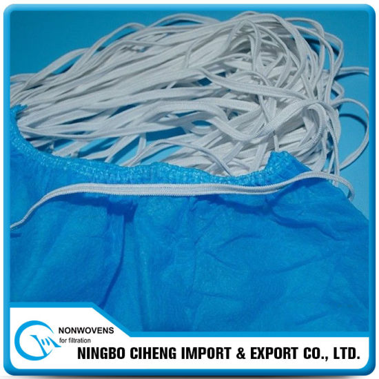 Disposable Non-Woven Scrub Cap Flat Elastic String with Double Threads