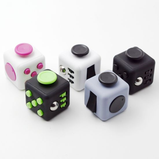 Plastic Magic Cube Fidget Spinner Cube Hand Spinners for Kids pictures & photos