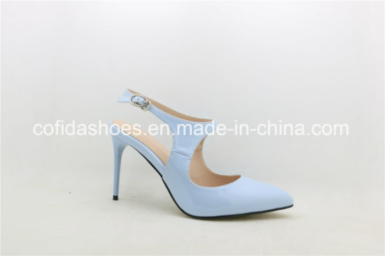 New Sexy Design Fashion High Heels Imitated Leather Women Shoe pictures & photos