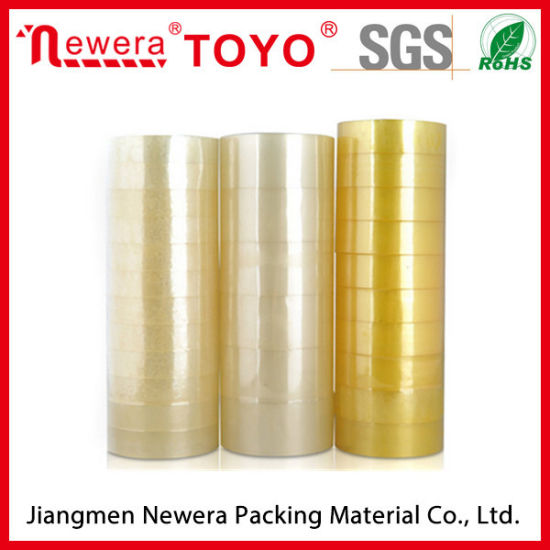 Plastic Core Tape Stationery Tape Yellowish BOPP Acrylic Adhesive Tape pictures & photos