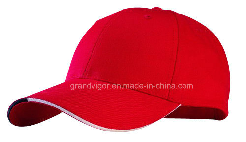 ODM 6 Panels Cotton Baseball Cap with Twin Sandwich