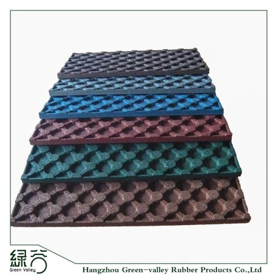 2018 Popular Safety Outdoor Anti-Slip Recycled Rubber Mat for Playground Sports Flooring Rolls