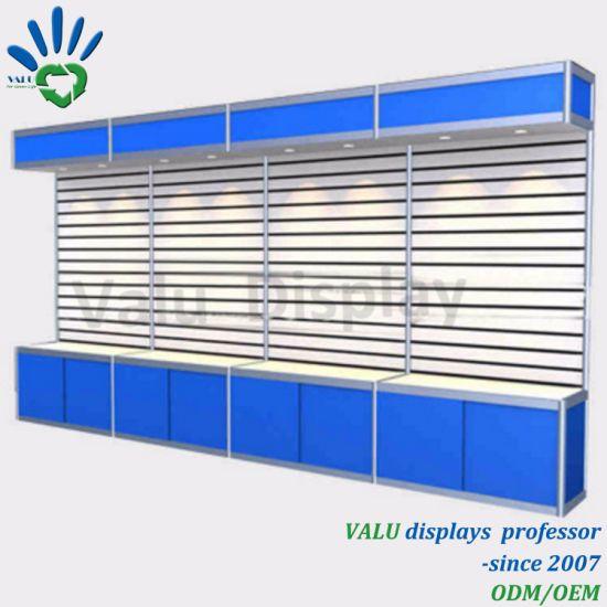 China Free Standing Aluminium Frame Slatwall Back Panel Display ...