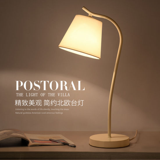 Metal Colorful Shade Simply Modern Desk Table Lamp for Reading Room pictures & photos