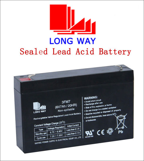 6v7ah Maintenance Free Agm Battery For Supply Longway Pictures Photos