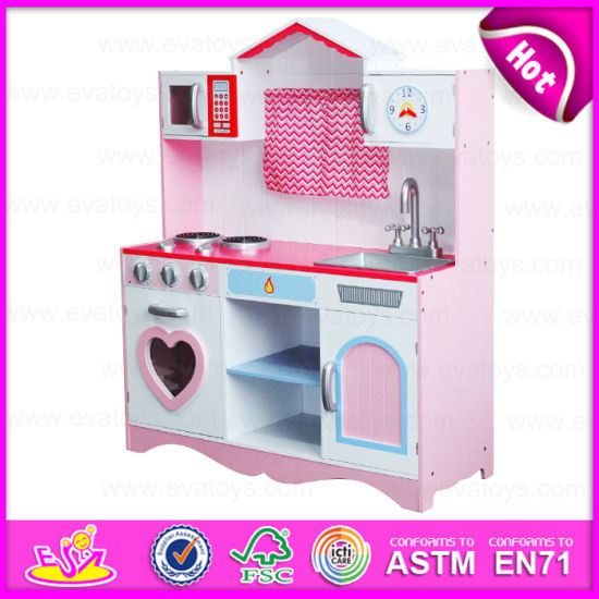 New Style School Kids Wooden Pretend Play Kitchen Set, Hot Sell Kids Play  Kitchen Set with Accessories W10c162