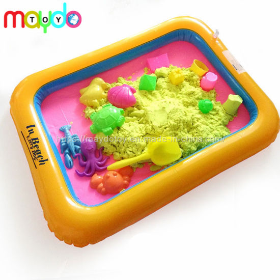 Magic Kinetic Play Sand Toys with Inflatable Sandbox Models Set