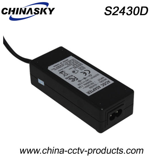 24VDC 3A Desktop Type Security Camera Power Supply (S2430D) pictures & photos