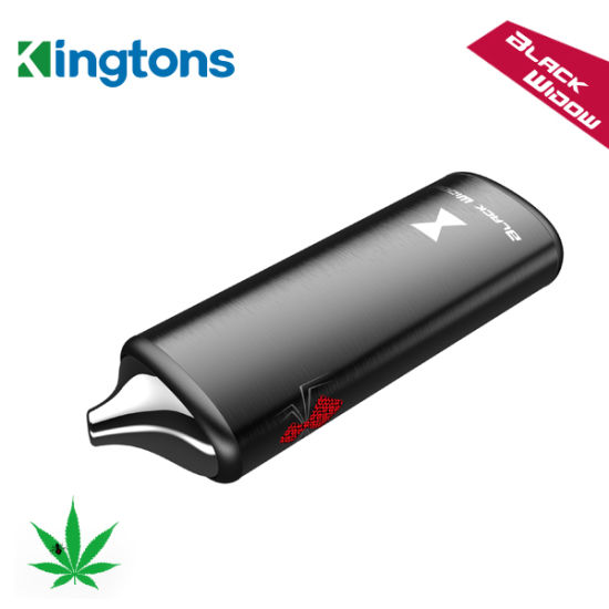 Kingtons Black Widow Dry Herb Vaporizer with Ceramic Heating Chamber pictures & photos