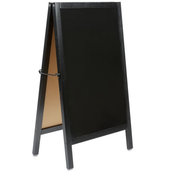 "a-Frame Marker Board Sidewalk Sign - Black Wood - 20"" X 34"""