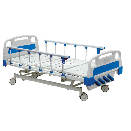 Manual 4 Crank Hospital Beds Simple Beds for Patient (BS-837)