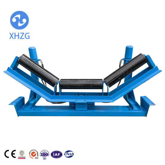 China Belt Conveyor Idler Roller with Support Frame - China