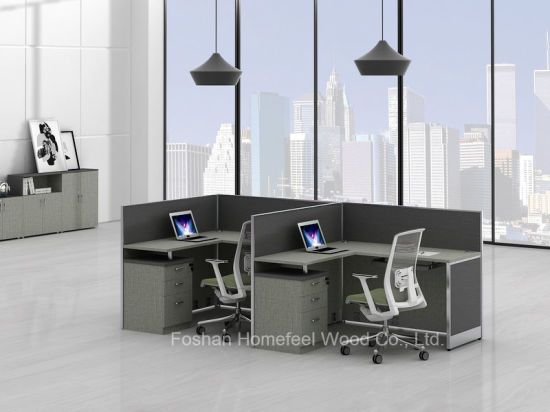 Modern Small Office Workstation Computer Desk For 2 Person (HF YZQ38)