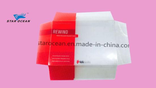 Custom Plastic PVC/Pet Cover for Paper Box