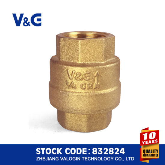 Stainless Steel Brass Spring Check Valve (VG12.90081) pictures & photos