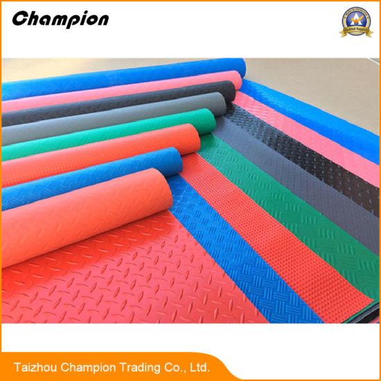China PVC Coil Flooring Anti Slip Rubber Flooring Anti Slip Non - Anti skid flooring material