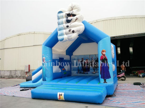 Factory Direct Sale Different Theme Design Inflatable Frozen Bouncer Slide Combo pictures & photos