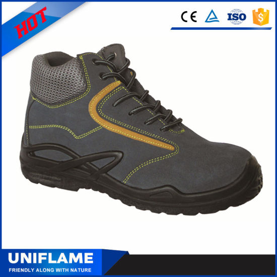 Suede Leather Upper Middle Cut Safety Boots Calzado Trabajo Ufa029