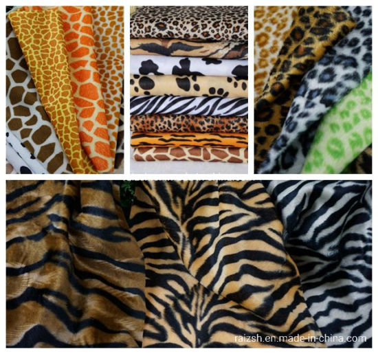 100% Polyester Short Pile Plush Fabric pictures & photos