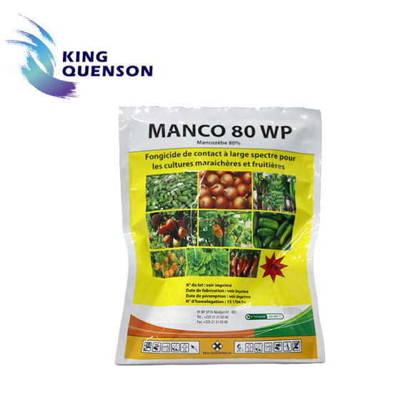 King Quenson Widely Use Fungicide Mancozeb 80% Wp 90% Tc (75% WDG, 30% SC)