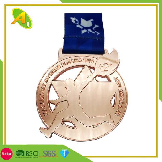 Award Big Beautiful Gold Cheap Stand Sport Medal Gift (288)