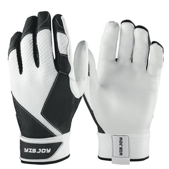 White Color Durable Soft Goat Skin Leather Softball Gloves Mens Womens Baseball Batting Gloves