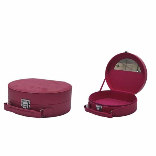 Collapsible Vintage Non Woven Fabric Covered Jewelry Storage Box with Drawer pictures & photos