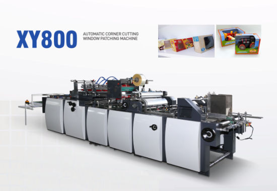 Automatic Corner Window Pasting Cutting Creasing Window Patching Machine for Tissue Box (XY Series) Paper Bag / Papler Envelope
