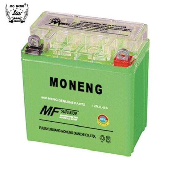 12n3l-BS Motorcycle Accessories Green Color Gel Battery