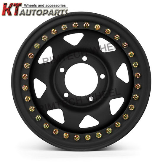 Black 4X4 Offroad 15inch Eight Spoke Steel Wheel Rim pictures & photos